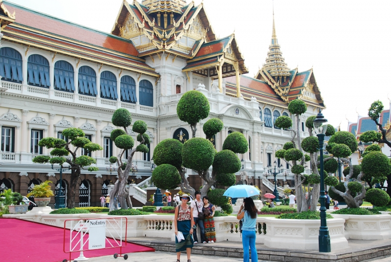 the Grand Palace - Königspalast in Bangkok